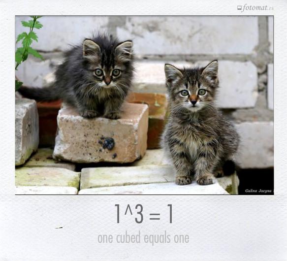 1^3 = 1