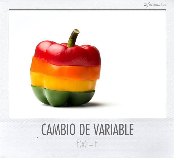 CAMBIO DE VARIABLE