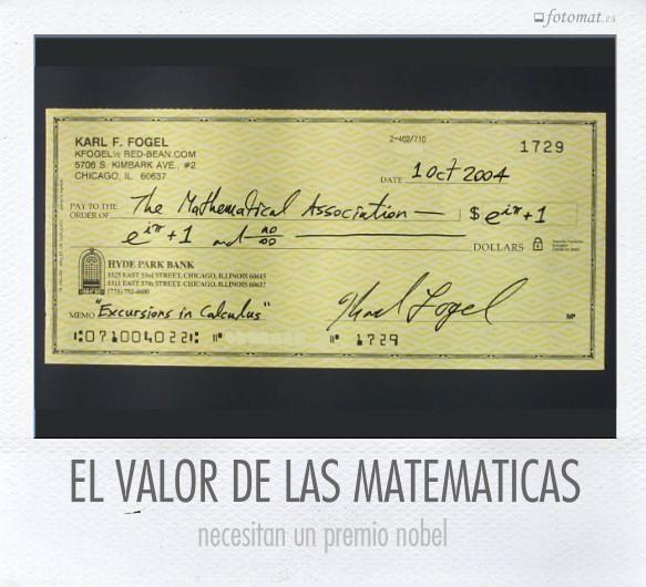 EL VALOR DE LAS MATEMATICAS