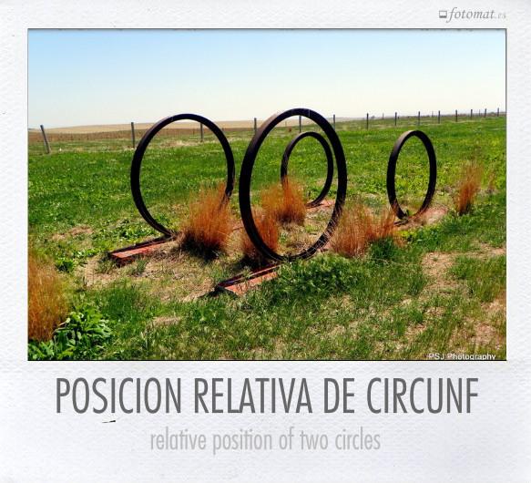 POSICION RELATIVA DE CIRCUNF