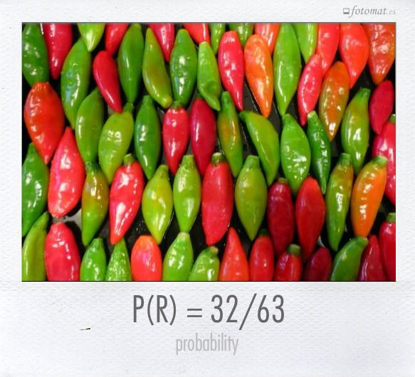 P(R) = 32/63