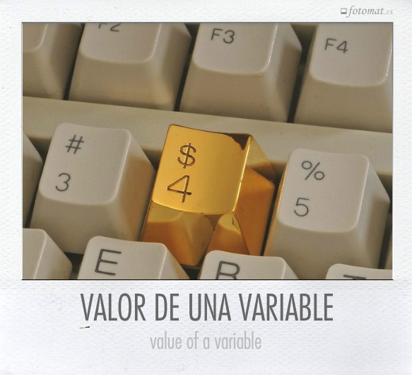 VALOR DE UNA VARIABLE