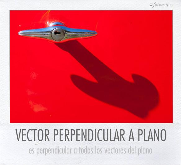 VECTOR PERPENDICULAR A PLANO